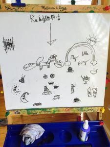 Claire random whiteboard art
