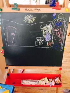 Molly blackboard house